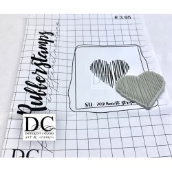 Different Colors SU00709  Heart Stripes Unmounted