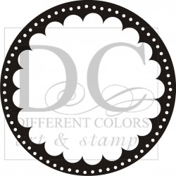 Different Colors S00042 Scallop Circle