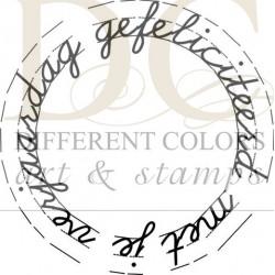 Different Colors S00005 Hartelijk Gefeliciteerd Rond