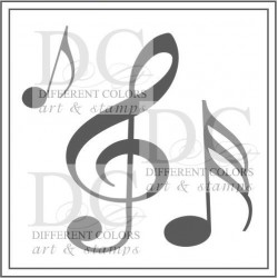Different Colors S00499 Square Music Notes