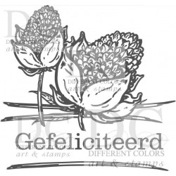 Different Colors S00518 Flower label Gefeliciteerd