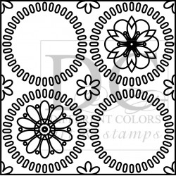 Different Colors S00086 Flower Design Border