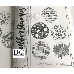 Different Colors SU00715 Abstract Circles (unmounted)