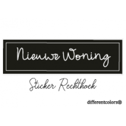 Nr 47 Sticker Nieuwe Woning Rechthoek