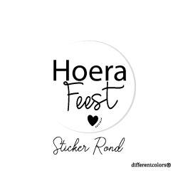 Nr 09. Sticker Hoera Feest