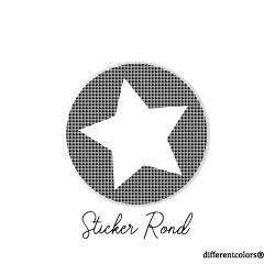 Nr 14. Sticker Ruitje witte ster