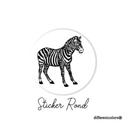 Nr 17. Sticker Zebra