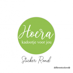 Nr 31.  Sticker Hoera Kadootje (groen)