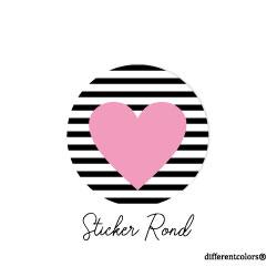 Nr 38. Sticker Streepje Roze Hart
