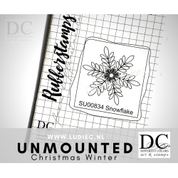 Different Colors SU00834 Snowflake (Unmounted)